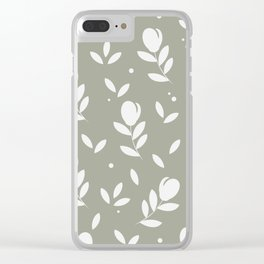 Let it bloom with tulips, floral pattern design Clear iPhone Case
