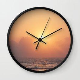 Texas Coast Sunrise Wall Clock