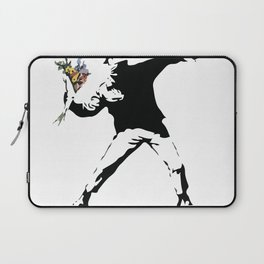 Banksy Flower Thrower Laptop Sleeve