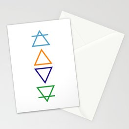 Air, fire, water & earth Stationery Cards