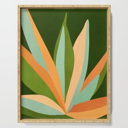 Colorful Agave / Painted Cactus Illustration Serving Tray