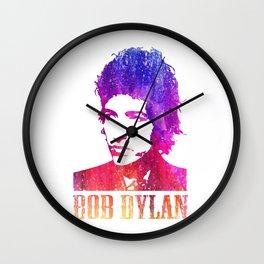 Bob Dylan Print Wall Clock
