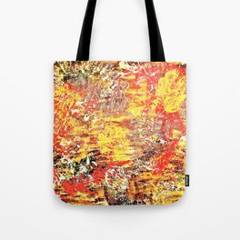 Golden Autumn Abstract Tote Bag