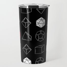 Black Dungeons and Dragons Dice Set Pattern Travel Mug