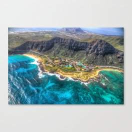 "Aerial view of ""Sea life Park"" Canvas Print"