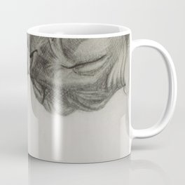 Pencil drawing kitten sphinx, graphic art Coffee Mug