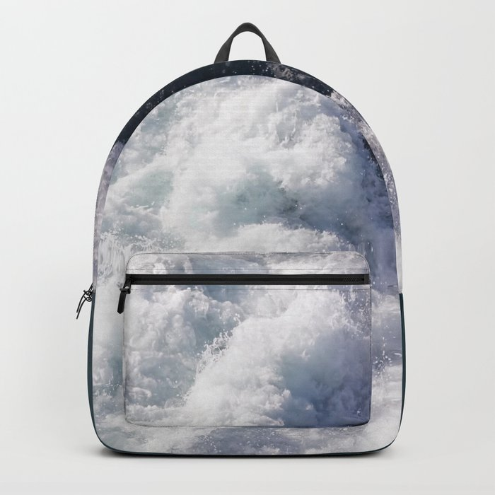 sea - midnight blue wave Backpack