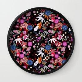 Kimono Black Wall Clock