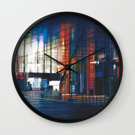 Modern Architecture Glass Wall Clock
