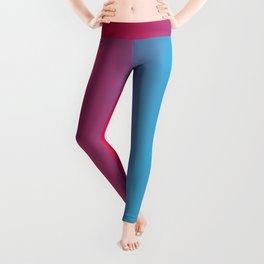 Pink and Sky-Blue Gradient 010 Leggings