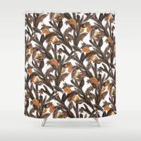 spice Shower Curtains featuring Spice by Marlene Pixley