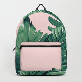 Blush Banana Leaves Dream #3 #tropical #decor #art #society6 Backpack