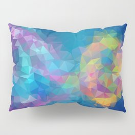 Triangles art low poly fish Pillow Sham