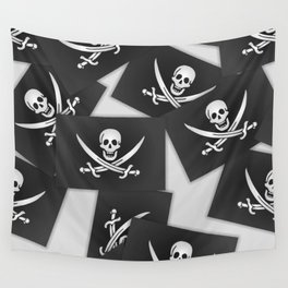 The Jolly Roger of Calico Jack Wall Tapestry