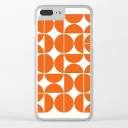 Mid Century Modern Geometric 04 Orange Clear iPhone Case