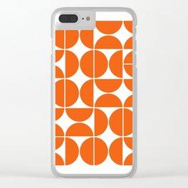 Mid Century Modern Geometric 04 Orange Clear iPhone Case