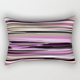 Abstract stripes in lilac tones Rectangular Pillow