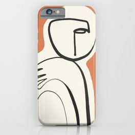 Lady Portrait Abstract Minimal  Line Art 2 iPhone Case
