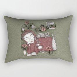 Staying Home  Rectangular Pillow