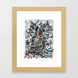 Eagle Vs Drone Framed Art Print