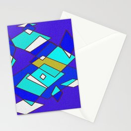 Blue white and turquoise Stationery Cards