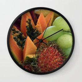 Hawaiian Tropical Fruit Arrangement Wall Clock