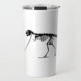 Extinct T-rex Dinosaur on leash Travel Mug