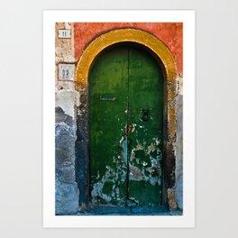 Magic Green Door in Sicily Art Print