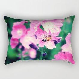 Hornet and Flower Rectangular Pillow