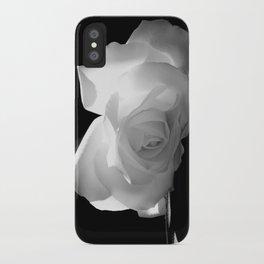 Black & White Rose iPhone Case