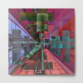 MAGIC CITY LINES Metal Print