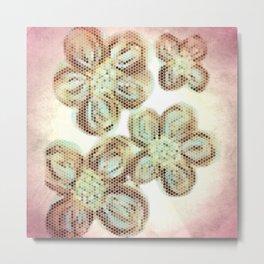 Flower Hive Pink Metal Print