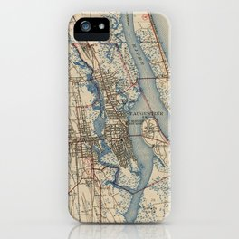 Vintage Map of St. Augustine Florida (1937) iPhone Case