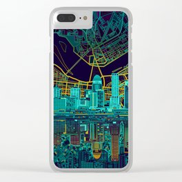 louisville skyline abstract Clear iPhone Case