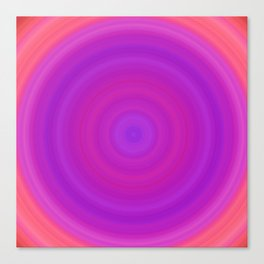 Orange & Purple Gradient Circles Canvas Print