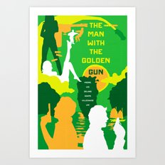James Bond Golden Era Series :: The Man with the Golden Gun Art Print