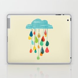 cloudy with a chance of rainbow Laptop & iPad Skin