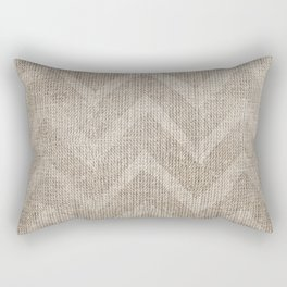 Chevron burlap (Hessian series 1 of 3) Rectangular Pillow