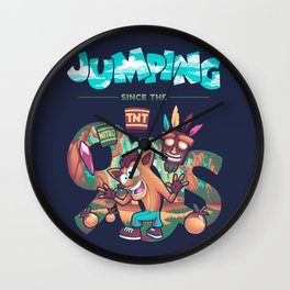 Jumping Since The 90s Wall Clock