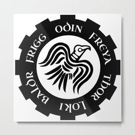 Raven Banner Metal Print