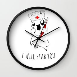 Halloween Costume I Will Stab You Nurse Gift Wall Clock