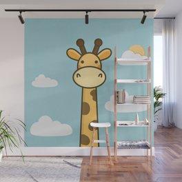 Kawaii Cute Giraffe Wall Mural