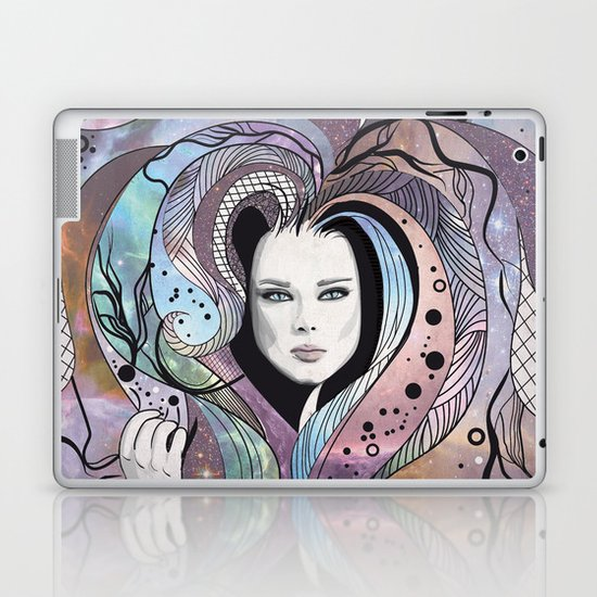 cosmic girl Laptop & iPad Skin
