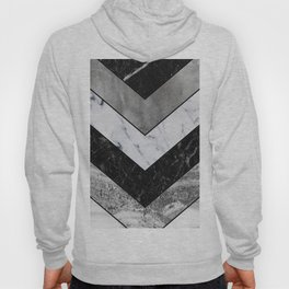 Shimmering mirage - grey marble chevron Hoody