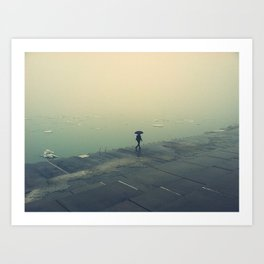 umbrella girl. Art Print