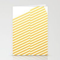 bands Stationery Cards featuring Yellow bands by blacknote