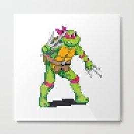 Pixelated Teenage Mutant Ninja Turtles (TMNT) - Raphael Metal Print