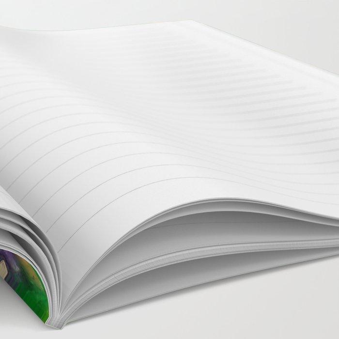 Mardi Gras stars #4509 Notebook