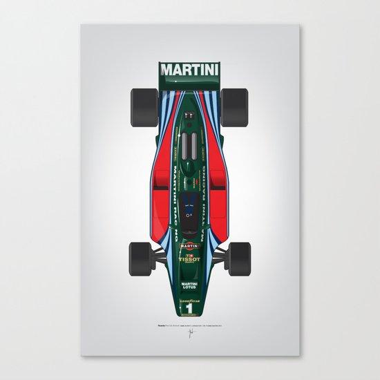 Outline Series N.º2, Mario Andretti, Lotus 80-Ford 1980 Canvas Print