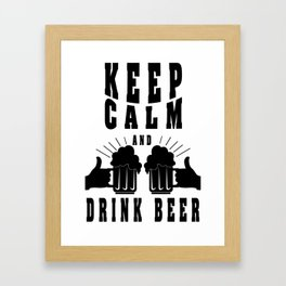 keep calm - I love beer Framed Art Print